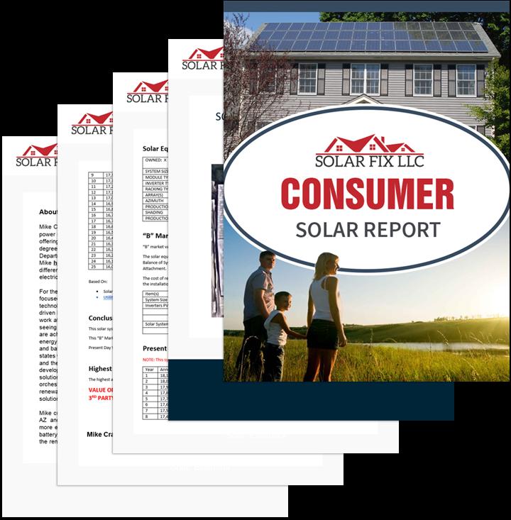 Solar Fix Consumer Solar Report