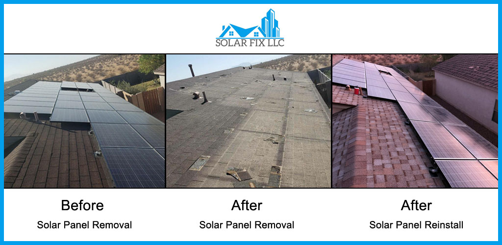 Solar Panel Removal & Reinstall Before & After