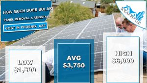 Solar Panel Removal and Reinstall Cost Phoenix, AZ